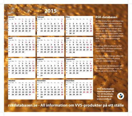 VVSINFO Musmattor med kalender 2015