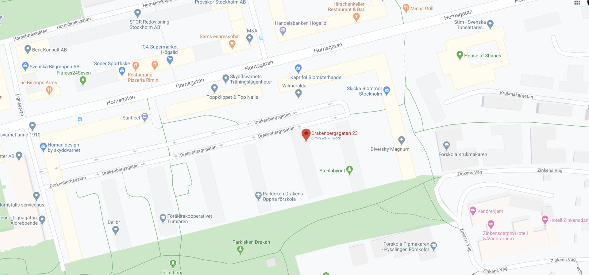VVSinfo på Google maps